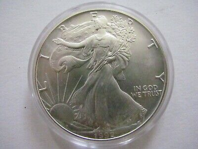 one 1 Dollar 1992 Liberty fine silver coin Silber USA 1oz  Münze Medaille