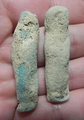 Zurqieh - As12975- Ancient Egypt. Lot Of 2 Faience Ushabtis. 600 - 300 B.c