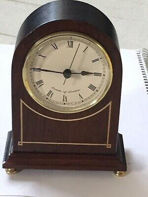 """Vintage Mahogany Solid Wood Arch Mantle Clock """"COMITTI OF LONDON"""" Gd. Working"""