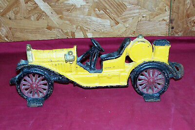 Old Cast Iron Antique Car Door Stop Doorstop Ford Model T Speedster Automobile