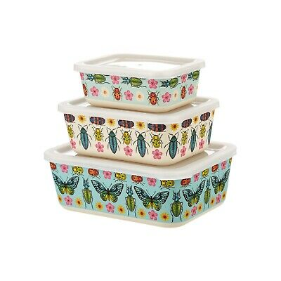 Sass and Belle Insect Bamboo Lunchboxes (Set of three) Dishwasher safe