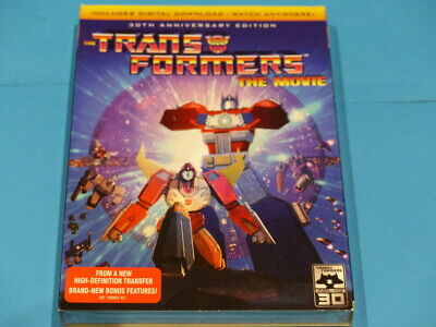 The Transformers The Movie 30Th Anniversary Edition Dvd W/ Slipcover New