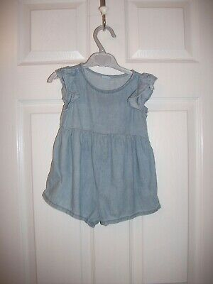 Next Baby Girls Chambray Playsuit Age 9-12 Months