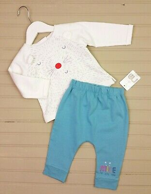 Baby Girls Clothes MOTHERCARE Mousey Top & Harem Leggings 0-3 & 3-6 Months BNWT