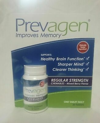 New Prevagen Regular Strength Chewables Improves Memory 30 Tablets Sealed