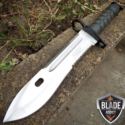 "13.5"" Bayonet Military Tactical Combat Hunting Knife Survival Rambo Fighting -T"