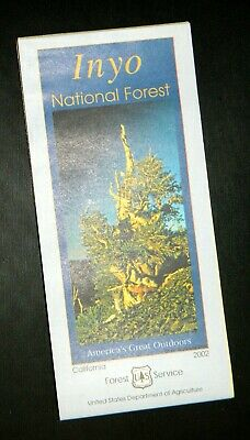 Forest Service  Inyo National Forest recreation map (2002, folded paper map)