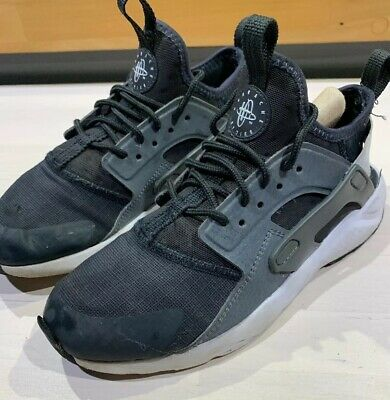 4b2f4e7f85 NIKE HUARACHE BLACK/BLUE/GREY baby boy girl trainers infant size UK ...