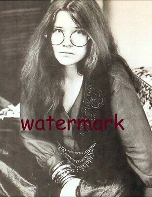 Rare Janis Joplin Showing Her Serious Side Publicity Photo