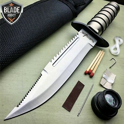 "9.5"" Tactical Hunting Army Rambo Fixed Blade Knife Machete Bowie w Survival -T"