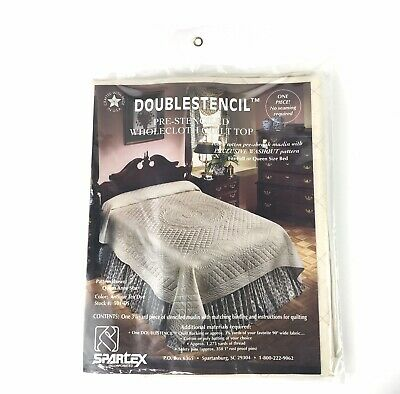 Spartex Doublestencil Pre-Stenciled Wholecloth Quilt Top Full or Queen 501-DS