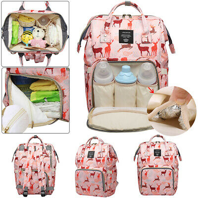 LEQUEEN Mummy Bag Backpack Baby Diaper Large Capacity Changing Waterproof Travel