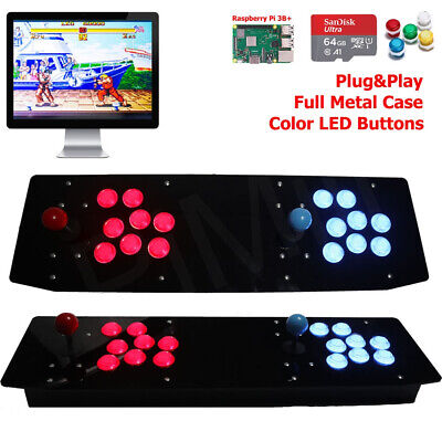 TableTop Retro Game Console Two Players Raspberry Pi 3B+ Metal Case 64G US