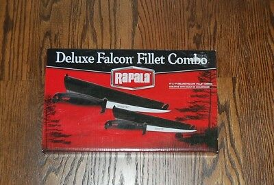 New Rapala Deluxe Falcon Fillet Combo 2 stainless steel knives Fishing Present