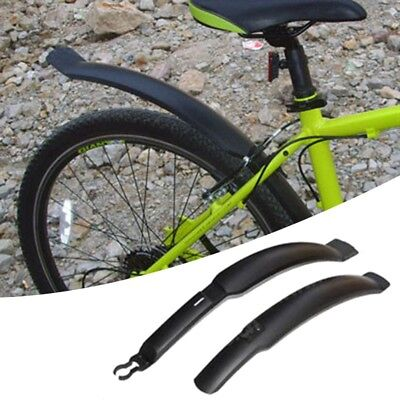 Mud guard for Mountain Bike black Plactik  with blue 5d Carbon Fiber Vinyl