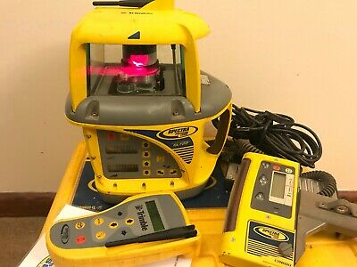 Trimble Spectra Precision GL 722 Dual Grade Laser Package w/ CR600 & RC703