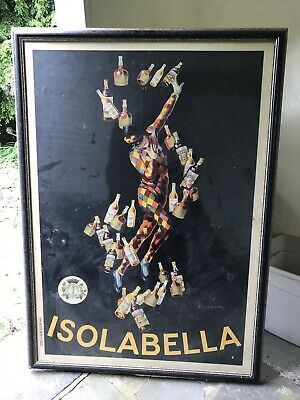 Isolabella, 1910 by Leonetto Cappiello Framed VINTAGE antique Art Print Poster