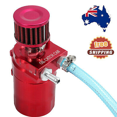 300ml Oil Catch Can Aluminum Engine Reservoir Breather Tank With Filter Red