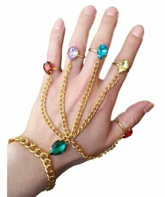 Thanos Infinity War Infinity Gauntlet Gem Stones Finger And Hand Bracelet