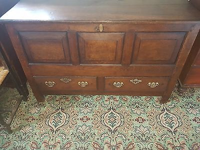 Large Oak Panelled 18th century Oak mule chest