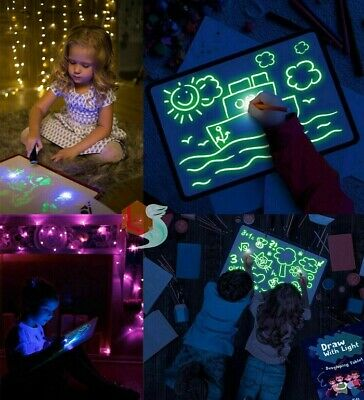 New Educational Draw With Light Toy Fun And Developing Drawing Board Magic Draw