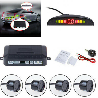 Car Parking Reverse 4 Sensor with LED Display Kit Backup Radar System Rain proof