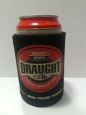 West End Draught Stubby Holder Cooler Can Beer Bar Redtins Red