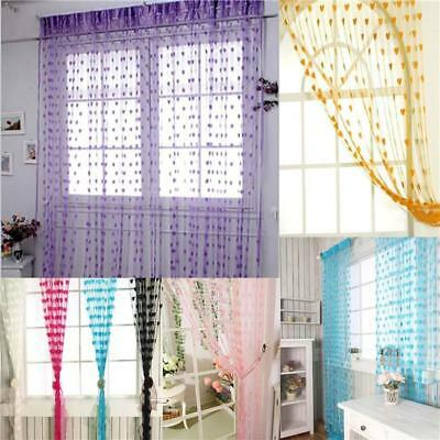 Tassel Window Home Decoration Curtain Panel Scarf Line String Door Curtains LJ