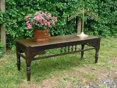 A Good Antique Arts & Crafts Oak Window Or Dining Seat Bench