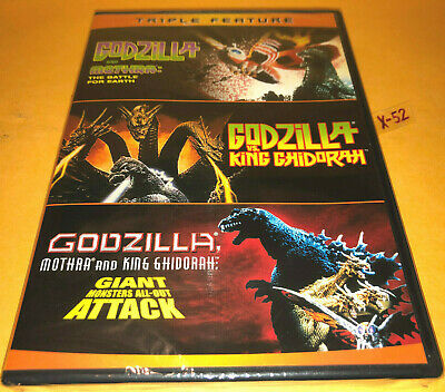 GODZILLA DVD 3 movie MOTHRA + VS KING GHIDORA + GMK giant monsters all out attac