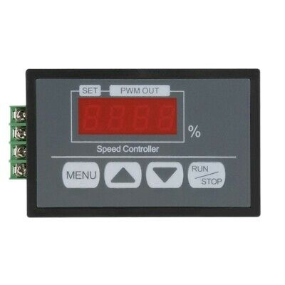 Digital Display Panel 30A Dc 6V~60V Pwm Motor Speed Controller Slow Start/S J8L9