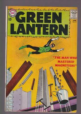 Green Lantern # 21  The Man who Mastered Magnetism !  grade 6.5 scarce book !