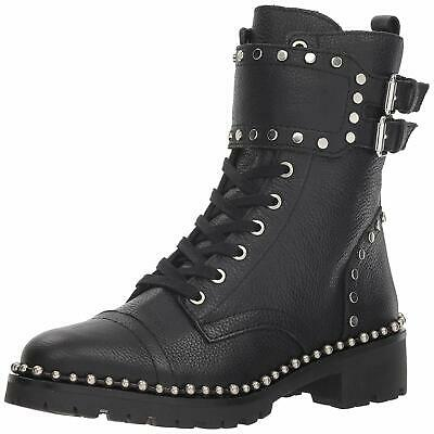 cd3eeb188 GUCCI COMBAT BOOTS Leather Lace Up Flat Italy Women's Sz 7.5 B RARE ...