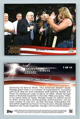 Retutns To WWE #7 WWE Road To Wrestlemania 2016 Topps Dusty Rhodes Tribute Card