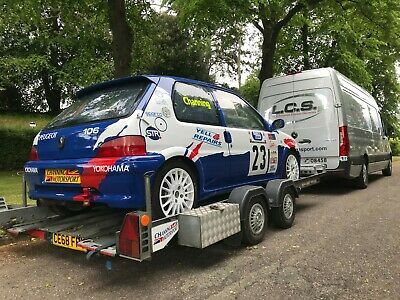 Brian James Clubman Car Race Rally Trailer Transporter Twin-axle not Ifor Willia