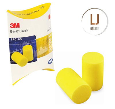 3M Classic Foam Ear Plugs Disposable Work, Safety, Sleep Aid E.A.R PP-01-002 New