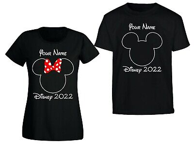 Personalised Minnie/Mickey Mouse Disney 2019/2020 Vacation T-Shirt Florida/Paris