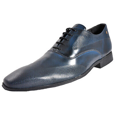 Base London Tamar Mens Formal Dress Leather Navy Shoes (Sample) UK 8