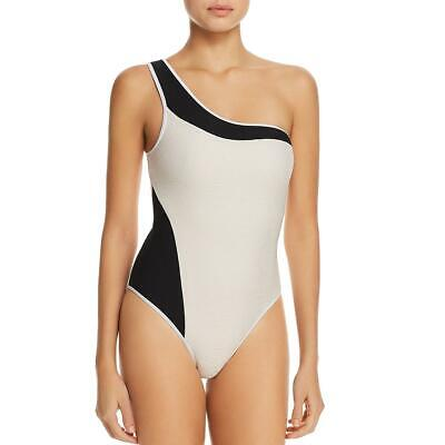300d3af8f3 Ellejay Womens Melinda Ivory One-Shoulder Cheeky One-Piece Swimsuit M BHFO  3573