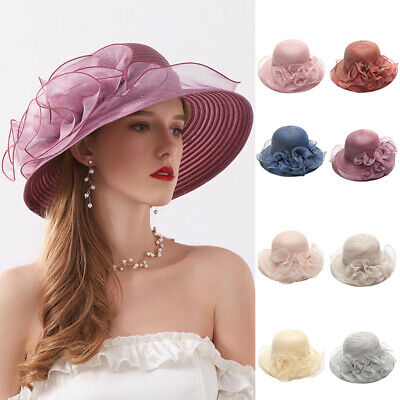 1c2f72f20380 Women's Organza Church Kentucky Derby Fascinator Bridal Tea Party Wedding  Hat