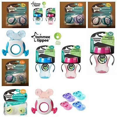 Joblot Baby Tommee Tippee Soothers Teether 360 Drinking Cup Feeding Plates Kids