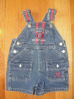Baby Boy Denim Overalls New York Yankees Outfit Size 3-6 Mos Ny