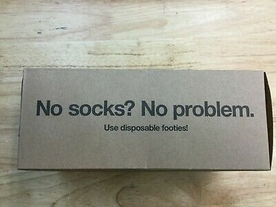 Disposable Try-On Footie, Foot-Sox Disposable Try On Sock, Beige, Box of 2 Gross