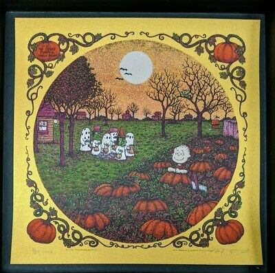 Marq Spusta Print It's The Great Pumpkin Charlie Brown Edition 60 Gold SIgned