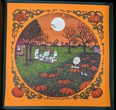 Marq Spusta Print It's The Great Pumpkin Charlie Brown Edition of 80 SIgned