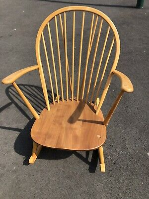 Retro Ercol Blonde Grandmother Rocking Chair