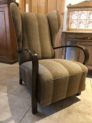Original Early Mid Century / Art Deco /Easy /Bentwood Armchair Halabala style