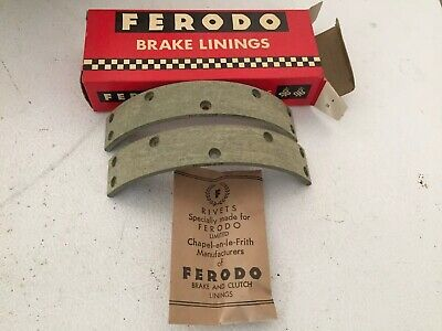 (NOS) 1967 BSA A65 Rear Brake Liners BS9/1 Ferodo