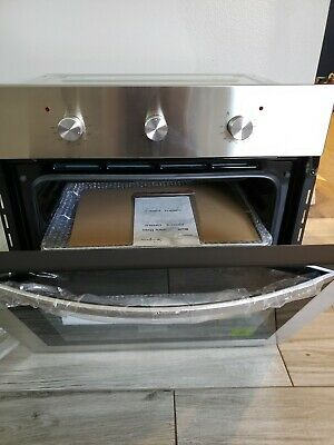 """Empava 24"""" Tempered Glass Electric Built-in Single Wall Oven 2800W 110V-Steel"""