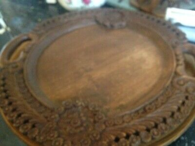 Vintage Decorative Eastern Carved Wooden Tray